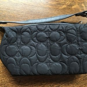 "Black ""Quilted"" Coach Purse"